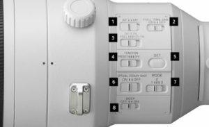 Switch SONY FE 400 mm F2.8