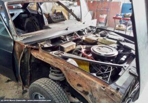 Lancia Beta Coupé ruggine pre restauro