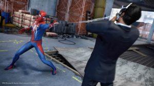 Spider-Man lancio ragnatela contro nemico