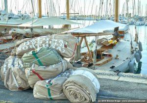 Vele North Sails sulla banchina