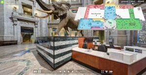 Inizio navigazione tour virtuale Smithsonian Museo di Storia Naturale