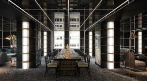 Coworking Lounge e tavolo conferenze Waldorf-Astoria