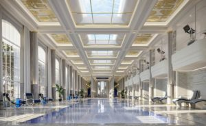 Piscina al 25esimo piano Waldorf Astoria