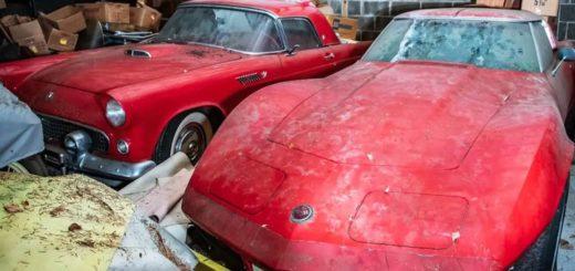 Larry Schroll Chevrolet Corvette e Ford Thunderbird