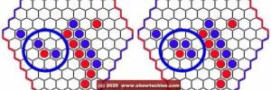 Risposta rossa e mossa blu ponte blu
