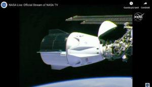 Collegamento Crew Dragon e ISS