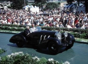 Ralph Laurend e Russell a bordo Mercedes Conte Trossi a Pebble Beach