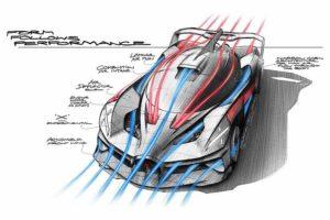Bugatti Bolide design funzionale