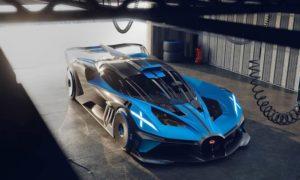 Bugatti Bolide prese d'aria frontali