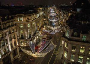 Lo Spirito di Natale installazione luminosa Regent's Street
