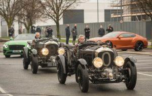 Adrian Hallmark al volante della Bentley Blower Car Zero