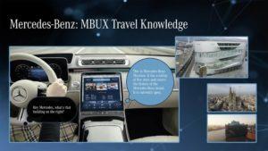 Mercedes-Benz MBUX Mercedes Travel Knowledge