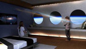Interior design camera hotel Voyager Station