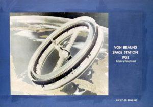 Stazione spaziale rotante di von Braun disegnata da Bonestell