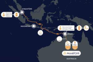 Percorso fornitura energia solare Australia Singapore AAPowerLink