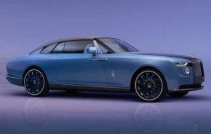 Rolls-Royce Boat Tail vista laterale con griglia frontale
