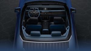 Vista cruscotto Boat Tail Rolls-Royce